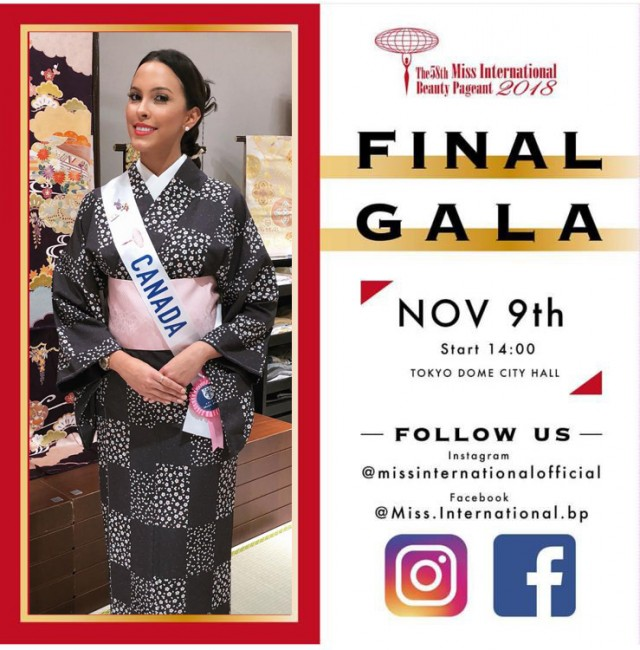 Camila Gonzalez will be representing Canada at the Miss